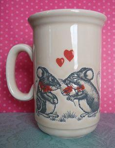 Vintage Pottery Mice in Love Churchill Mug by EdenKitsch on Etsy