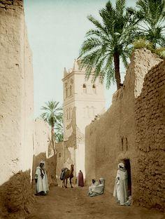 Sidi Malek Mosque in Biskra, Algeria, 1880 Algeria Travel, Africa Travel, Places To Travel, Places To See, Places Around The World, Around The Worlds, Beautiful World, Beautiful Places, Arabian Art