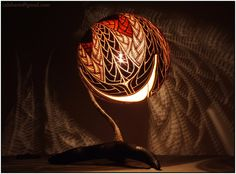 Table lamp X - Fractal - by night 4 by Calabarte on DeviantArt