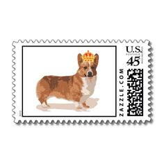 Queen's Corgi with crown stamp