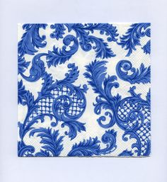 PAPER NAPKINS  Paper Lunch Napkins  Blue and by PaperNapkinsShop