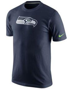Nike Men's Short-Sleeve Seattle Seahawks Fast Logo T-Shirt