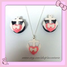 Hey, I found this really awesome Etsy listing at https://www.etsy.com/listing/177487176/kawaii-heart-anchor-tunnels-an-matching