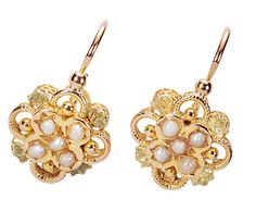 Antique French Pearl Earrings - The Three Graces