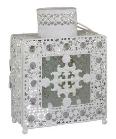 Another great find on #zulily! Metal Tile Lantern #zulilyfinds