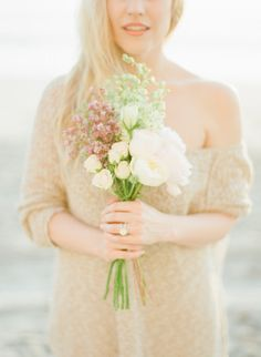 #bouquet Photography by ashleykelemen.com  Read more - http://www.stylemepretty.com/2013/09/11/del-mar-engagement-session-from-ashley-kelemen/