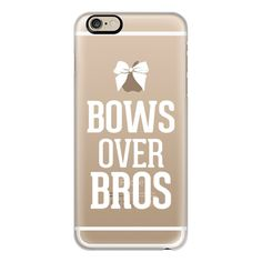 iPhone 6 Plus/6/5/5s/5c Case - Bows over Bros White Typography... ($40) ❤ liked on Polyvore featuring accessories, tech accessories, phone cases, phone, iphone, electronics, iphone cases, iphone cover case, iphone 6 case and white iphone case