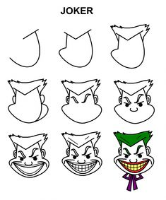 joker easy drawings step cartoon draw drawing doodle letters letter tutorials dbz sketch tips realistic characters character toenailfungus club discover