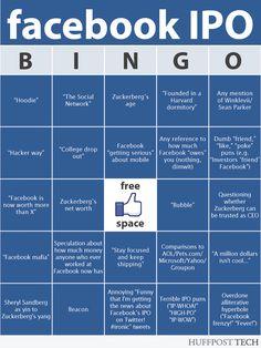 El bingo de la salida a Bolsa de FaceBook #infografia #infographic #socialmedia #humor #facebook