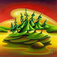 Dana Irving is a Canadian landscape painter. Landscape Drawings, Landscape Art, Nose Drawing, Surreal Art, Conceptual Art, Naive Art, Mermaid Art, Canadian Artists, Tree Art