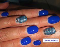 ONGLERIE JULIA NAILS, GEL UV BLEU PRONAILS et COQUILLAGES
