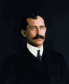 Orville Wright. (Colorized Photo).