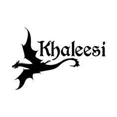 Khaleesi GOT Vinyl Decal / Laptop Decal / Car Sticker / Phone Sticker, starting at $3.00