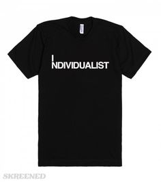 "I ndividualist | An individualist is a man who says: ""I will not run anyone's life—nor let anyone run mine. I will not rule nor be ruled. I will not be a master nor a slave. I will not sacrifice myself to anyone—nor sacrifice anyone to myself."" - Ayn Rand #Skreened"