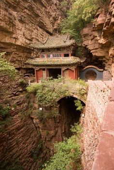 Fuqing Temple, located on Cangyan Mountain, 70 kms. southwest of Shijiazhuang. Its name loosely translates into 'Pale Rock Mountain Cangyan has been home for many Buddhist monks. Fuqing Temple is one of the more famous temples.