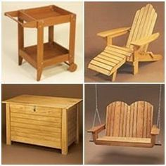 217 Free DIY Outdoor Furniture Project Plans – Download any of hundreds of great plans for wooden furnishings for your porch, poolside, patio, deck or garden. Photos: Minwax.com