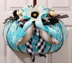 Thanksgiving Crafts, Thanksgiving Decorations, Fall Crafts, Arts And Crafts, Diy Crafts, Fall Decorations, Dollar Tree Pumpkins, Dollar Tree Crafts, Teal Pumpkin