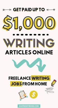 Make Money Writing, Way To Make Money, Writing Tips, Make Money Online, Online Writing Jobs, Freelance Writing Jobs, Business Funding, Business Tips, Freelance Online