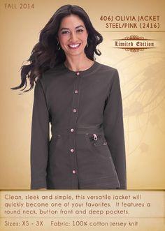 406 OLIVIA Jacket | 406J-2416 (Steel/Pink)