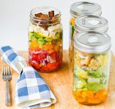 #Vegan Cobb Salad. Caesar Salad. In a Jar. - Healthy. Happy. Life.