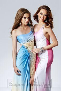 Diagonal With One Shoulder Design Evening Dress