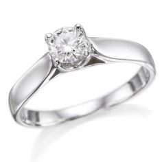 ND Outlet - Engagement   1/2 ctw. Round Diamond Solitaire Engagement Ring in 14k White Gold   Be the first to review this item | Like   (0)  Suggested Price:$2,885.00  Price:$1,518.00   Sale:$799.00   You Save:$2,086.00 (72%)