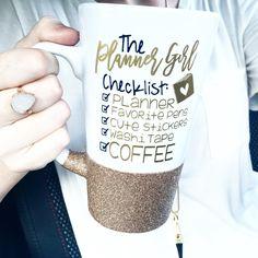 ORIGINAL The Planner Girl Checklist Tall Mug