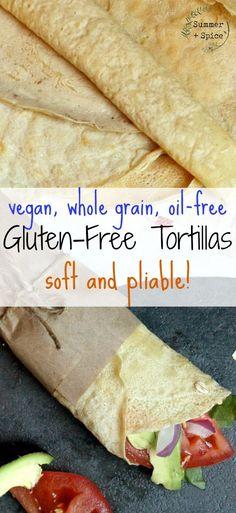 Gluten Free Tortilla   Vegan, Oil-Free, Whole Grain   Healthy Eating   High Protein Vegan   Plant-Based   Soft Gluten Free Tortilla   Vegan Lunch Recipe