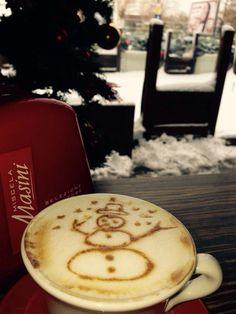Christmas time! ❤️Coffee and the snow man !