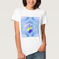 Blue Orchid flower tshirt