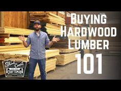 In this video I explain all you need to know to understand the world of hardwood lumber when going to a hardwood lumber yard or dealer to pick out your hardw. Woodworking Equipment, Rockler Woodworking, Woodworking Supplies, Woodworking Workshop, Woodworking Projects, Marine Plywood, Hardwood Lumber, Carpenter Work, Get The Job