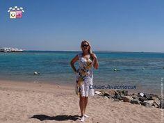 """Пляжные платья ручной работы. Ярмарка Мастеров - ручная работа. Купить Платье""""Яркий летний день"""",авторская работа. Handmade. Белый"""