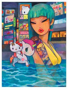 HK  ❣  HELLO KITTY Tokidoki Illustration by Simone Legno - Hello Art! Art Exhibition & Book Launch Hits New York City's Openhouse Gallery