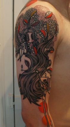 60 Awesome Arm Tattoo Designs | Cuded - I love the way the trees look