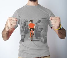 VIDEOGAME PIXEL BIKE TEE by Clockwork Gears