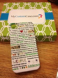 mycustomcase.com  Great Arbonne gift idea!