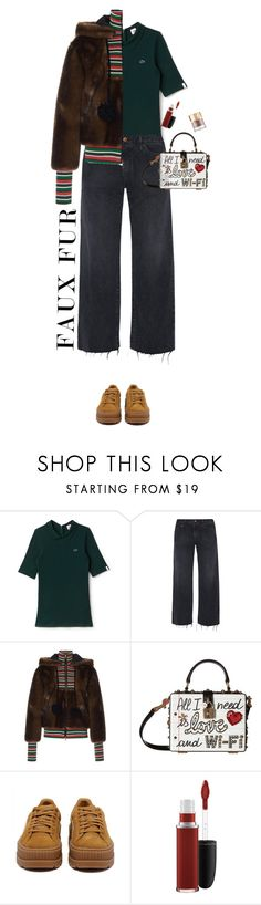 """""""Go Fur It!"""" by rachael-aislynn ❤ liked on Polyvore featuring Lacoste L!VE, Simon Miller, Stella Jean, Dolce&Gabbana, Puma, MAC Cosmetics and modern"""