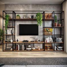 Home Room Design, Interior Design Living Room, Living Room Tv, Home And Living, Home Office Decor, Unique Home Decor, Iron Furniture, Furniture Design, Interior Design Layout