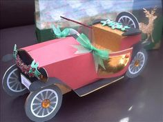 wedding car made using arty farty template