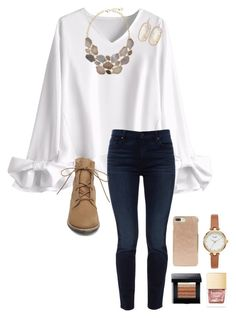 """School"" by abbyharshman8 on Polyvore featuring Jen7, Steve Madden, Kate Spade, Kendra Scott and Bobbi Brown Cosmetics"