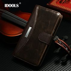 IDOOLS &Note2 Fashion Luxury Classic Flip Case for Samsung Galaxy Note 2 N7100 with metal Cover Wallet Stand with Card Holder | Best Online Store - FREE DELIVERY WORLDWIDE
