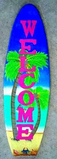 "Tropical Island Decor | Welcome"""