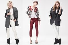 Isabel Marant pour H&M Koleksiyonu High Fashion Outfits, Punk Fashion, Gothic Fashion, Retro Fashion, Girl Fashion, Womens Fashion, Fashion Styles, Faux Leather Pants, Fall Trends