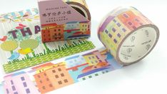 Little Town Washi Tape (30mm X 5M)