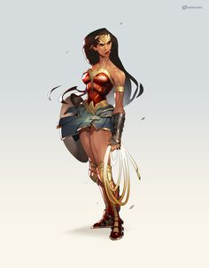 Wonder Woman, Dashiana ❤️‍ on ArtStation at https://www.artstation.com/artwork/eXd0Y