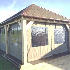 Gazebo side panels garden canopies and pergola covers made to your exact specification. Rot and waterproof outdoor fabrics. & Gazebo Side Panels u0026 Gazebo Curtains - Protective Textile Co Ltd ...