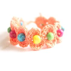 Shop Crochet Threads And Beads Friendship Band / Rakhi / Bracelet Pretty To Wear Handmades by Konichiwa online. Largest collection of Latest Bracelets and Bangles online. ✻ 100% Genuine Products ✻ Easy Returns ✻ Timely Delivery