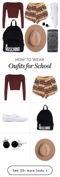 """""""School Day"""" by susanna-trad on Polyvore featuring WearAll, Vans, Moschino, Satya Twena and Bling Jewelry"""