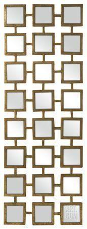 Gold Square Linking Wall Mirror Wall Mirror at Art.com