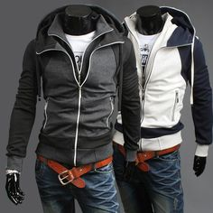 Free Shipping!2013 Men's Fashion Sports Winter Hoodies Sweater,Men cotton Jacket,double layer slim stylish.Hoodies Clothing Men. $17.99